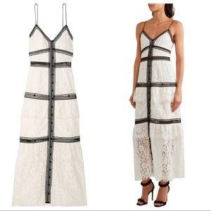 SELF-PORTRAIT Two-Tone Corded Lace Maxi Dress